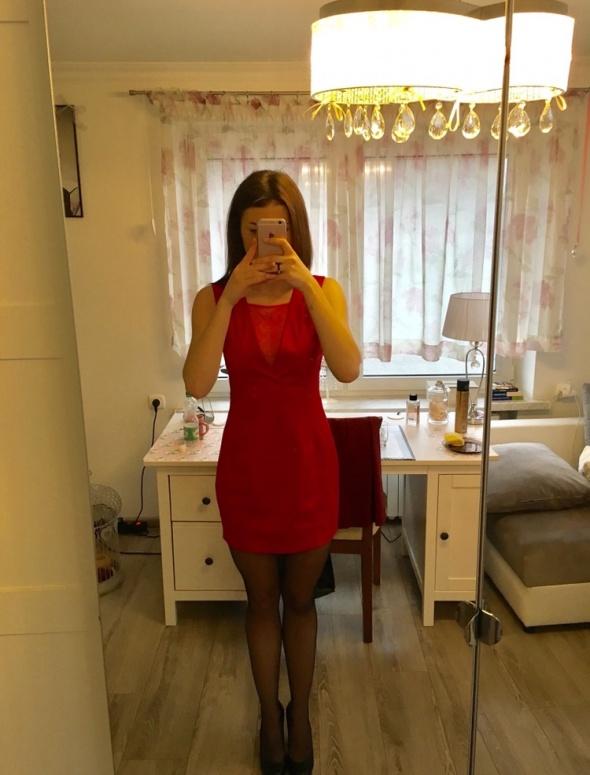 Suknie i sukienki Elegancka czerwona sukienka TIFFI r XS