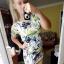Dresowa sukienka kwiaty