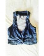 kamizelka jeansowa dżinsowa