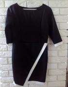 Zarno biala sukienka galowa