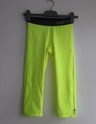 Nike Pro Neonowo żółte legginsy XS