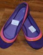 nowe fioletowe balerinki baleriny...