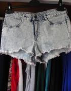 Marmurkowe jeansowe szorty spodenki pośladki