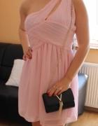 Nowa sukienka pudrowy róż wesele rozm 36...
