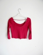 crop top różowy sznureczki krótki top tumblr...