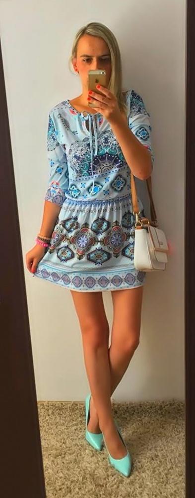 Eleganckie Ornamenty blue