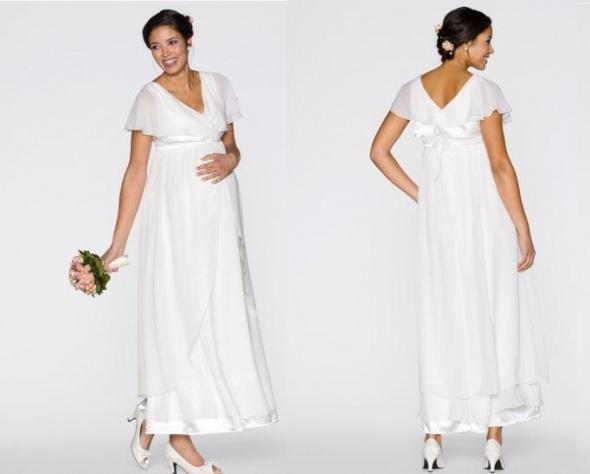 Sukienka ślubna Może Być Ciążowa 44 W Suknie ślubne Szafapl