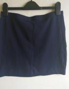 H&M mini elastyczna spódniczka granatowa tuba 36 S