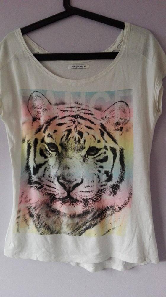Biała koszulka z kolorowym tygrysem...