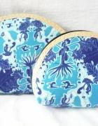 kosmetyczki małe 2szt blue indonezja