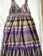 ONLY wielokolorowa sukienka plażowa SM