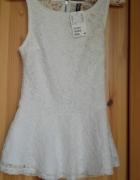 Biała bluzka H&M nowa z metką XS