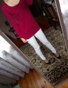Burgundowa bluzka buraczkowa bluzeczka luźna must...
