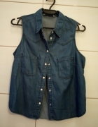 jeansowa koszula bershka 34