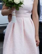 sukienka ślubna różowa...