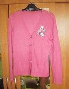 różowy delikatny sweterek L XL