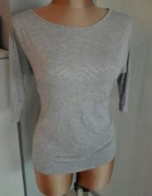 Reserved bluzka melanż grey szary popiel 38 M