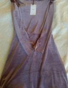 Fioletowa sukienka Bershka...