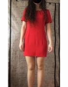 Czerwona sukienka szyta na zamówienie nowa r 36