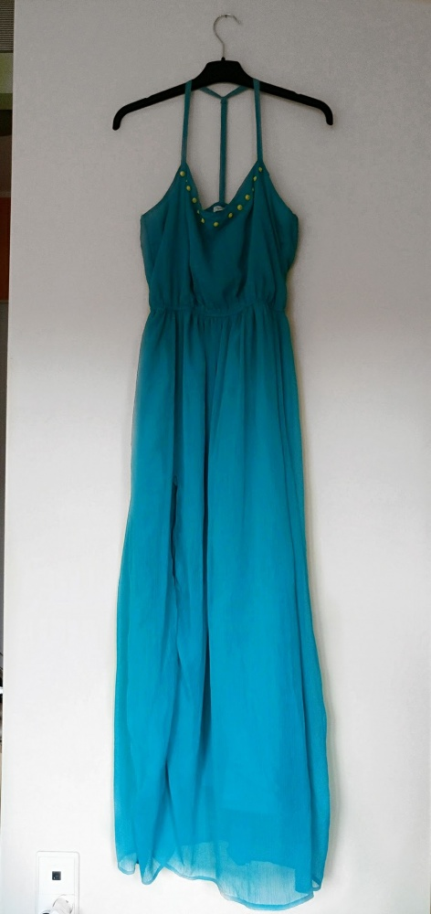 5e888fa990 Niebieska sukienka lato Calliope maxi L w Suknie i sukienki - Szafa.pl