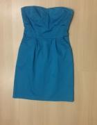 niebieska turkusowa sukienka rozmiar 36 S