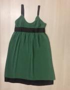 zwiewna zielona sukienka mohito rozmiar 36 S