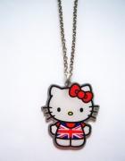NOWY naszyjnik Hello Kitty Claires UK flaga...
