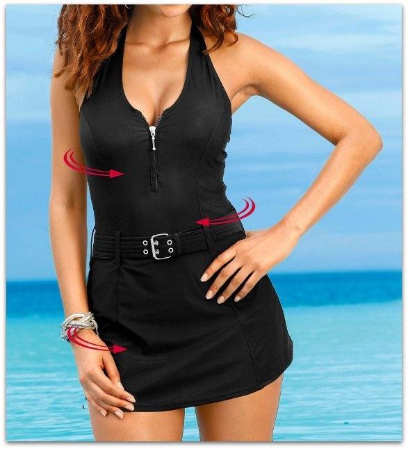 fad2eaf491ab0b 36 S Strój kąpielowy sukienka kąpielowa pasek w Stroje kąpielowe ...