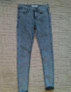 Rurki jeansy marmurki S