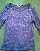 Bluzka sweterek Camaieu melanż granatowy M