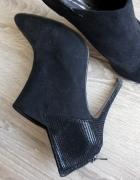 Czarne botki na szpilce Dorothy Perkins rozm 39...