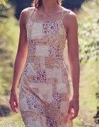 Sukienka floral na lato bez pleców