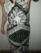 Sukienka maxi boho aztec