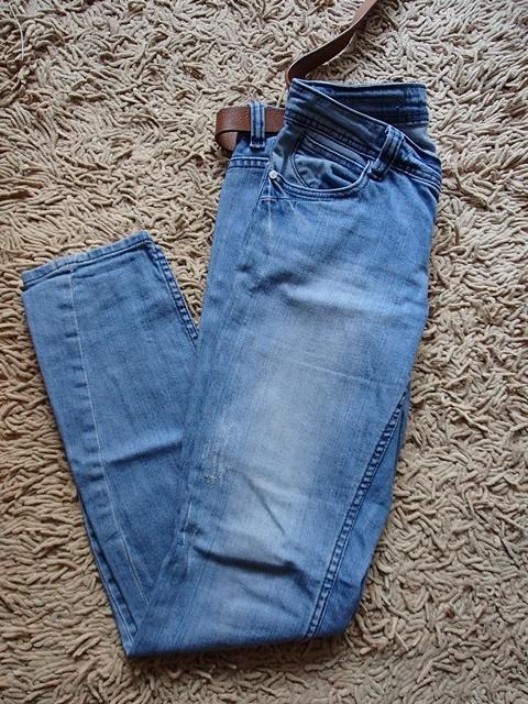 Spodnie jeansy rurki divese wytarte