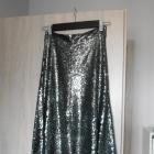 Zara maxi spódnica cekinowa cekiny srebrna nowa