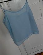 Niebieski Top krotka koszula mgielka