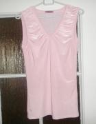 Tunika różowa Bluzka bez rękawa