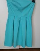Sukienka turkusowa Bershka