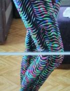Wzorzyste legginsy na siłownię