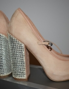 TOPSHOP GUILTY2 MARY JANE CRYSTAL HEEL SHOES...
