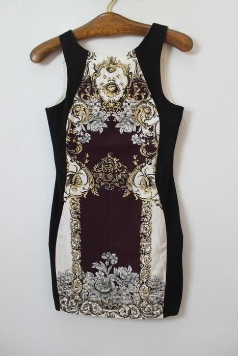 sukienka river island wzory aztec barokowa