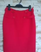 Ołówkowa spódniczka czerwień...