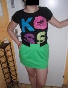 spodniczka plus bluzka oraz torebusia