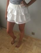 HIT spódnica z falbankami biała