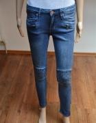 rurki skiny pikowane zipy H&M 36