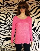bluzka sweter wycięcie różowa 38 M Tally Weijl