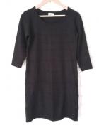 Sukienka tunika dzianinowa czarna Yessica...