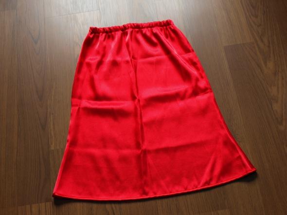 Spódnice Czerwona satynowa spódnica na Wesele