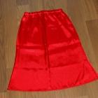 Czerwona satynowa spódnica na Wesele