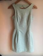 Miętowa sukienka koktajlowa rozmiar 34